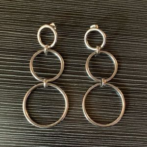 NWOT AE Silver Hoop Earrings